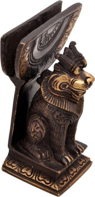 Aesthetic Decors Lion Card Holder Showpiece  -  10.2 cm