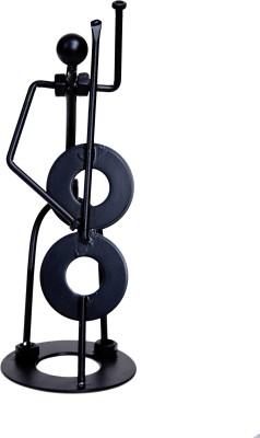 Kala Bhawan Showpiece  -  19 cm(Iron, Black)