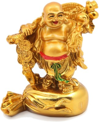 Dcreations Laughing Buddha With Coins Showpiece  -  7.62 cm at flipkart