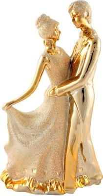 Aica Showpiece  -  33 cm(Microfibre, Gold)