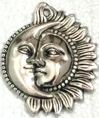 Traditional Rajasthan Auspicious Sun And Moon Showpiece  -  12 cm