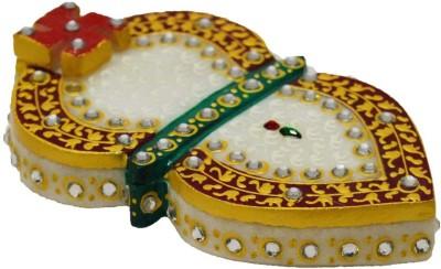 eCraftIndia Stone Studded Chopra - Leaf Design Showpiece  -  2.5 cm