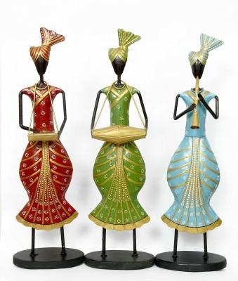 KHUSHI HANDICRAFTS RAJASTHANI MUSICAL MEN SET Showpiece  -  45 cm