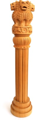 Craft International Wooden Ashoka Pillar 16 Inch Showpiece  -  41.5 cm
