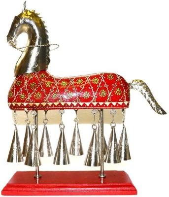 Pushpam Arts Horse Bell Showpiece  -  25.4 cm
