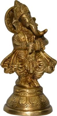 DronaCraft Lord Ganesha with Manjeera Showpiece  -  15 cm