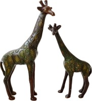 Handecor Giraffe Pair Showpiece  -  22.5 cm(Brass, Multicolor)