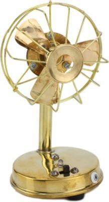 Glori-fyi Brass Antique Handcrafted Fan Showpiece  -  18 cm