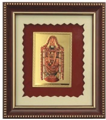 Aarya 24kt Balaji Gold Plated Frame Showpiece  -  14 cm