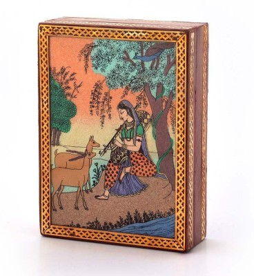 Little India Gemstone Meera Painting Wooden Box 256 Jewellery Vanity Box