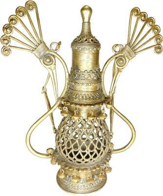 Rays Creative Art Lantern Brass Showpiece  -  46.5 cm