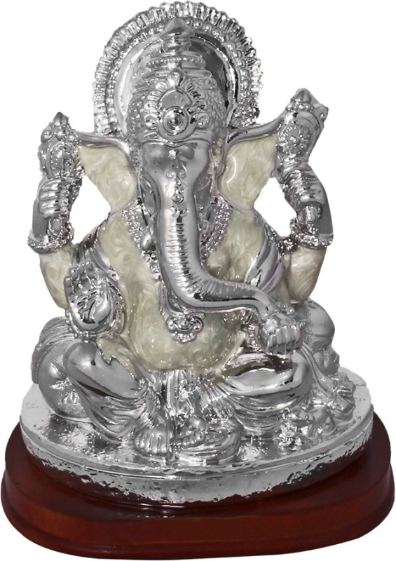 Art N Hub God Ganesh / Ganpati / Lord Ganesha Idol - Statue Gift item Showpiece  -  12.5 cm(Silver Plated, Silver)