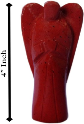 SS Murti Handicrafts Beautiful Red Jasper Angel 4 Inch Showpiece  -  10.2 cm(Stoneware, Red)