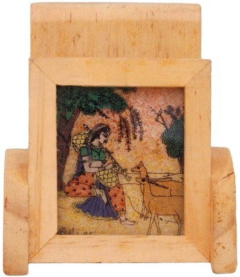 Halowishes 1 Compartments Wood Mobile Stand