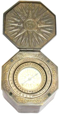 Home Sparkle Astrological Compass with Box Showpiece  -  7.5 cm