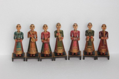 Prachin Art Gallary Musical Women Showpiece  -  24 cm
