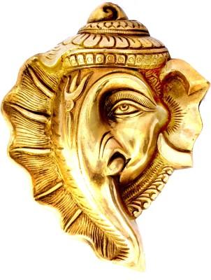 SKM Brass Showpiece Idol Ganeshaa Plain Showpiece  -  24.13 cm