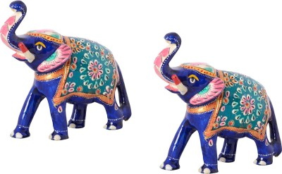 Rajasthali Arts Metal Elephant Showpiece  -  11 cm