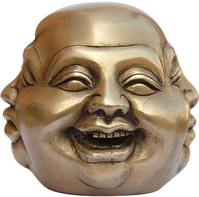 Dungri India Craft Laughing Buddha Showpiece  -  10 cm
