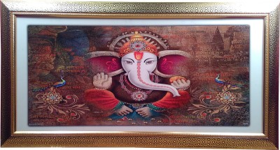 Giftvalley Exclusive ganesh frame wall hanging Showpiece  -  38 cm