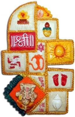 Anant Asht Mangal Ganesh Ganpati Wall Hanging Showpiece  -  24 cm
