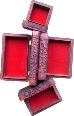 Marwar stores Woode Brass Fitting Jewellery Boxes Showpiece  -  20 cm