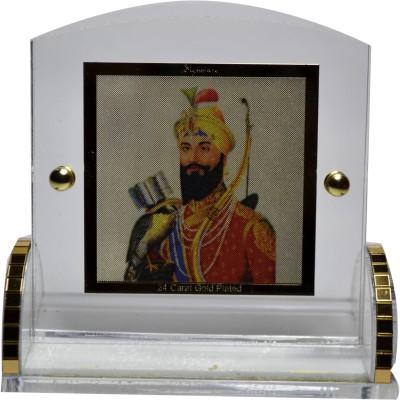 HBNS HS-GuruGobindSinghJi_GoldPlated Showpiece  -  6 cm