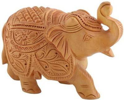 HanumantCreations Wooden Handicraft Solid Elephant Showpiece Showpiece  -  7 cm
