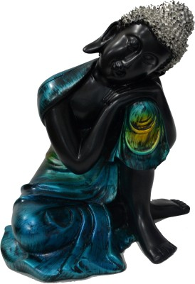 Taaza Garam Sitting Buddha figurine Showpiece  -  19 cm