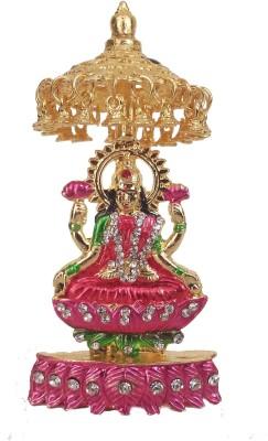 Divyas Gold Plated Laxmi Idol Showpiece  -  10 cm