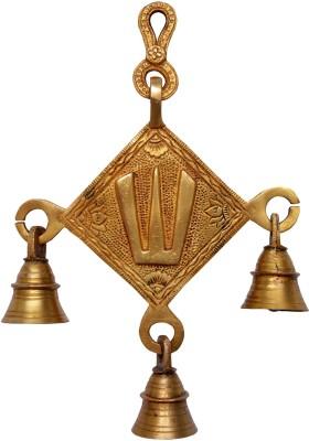 Aakrati Brass Wall Decor of Namah Showpiece - 20 cm(Brass, Yellow)