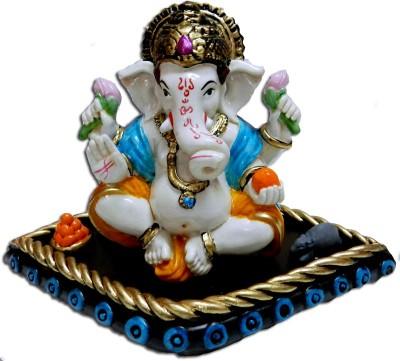 Anant Mangalmurti Ganpati Ganesha Idol Showpiece  -  9 cm