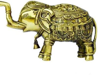 Advent Crafts Brass Elephant Showpiece  -  7 cm