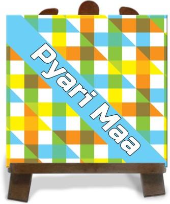 Tiedribbons Multicolored Printed Pyari Maa Tile Showpiece  -  28 cm(Ceramic, Multicolor)