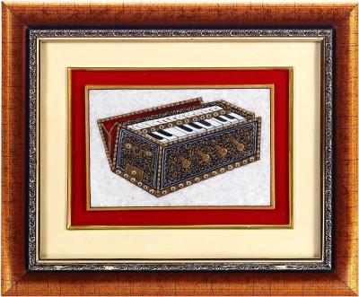 Aapno Rajasthan Hand Painted Harmonium Design Showpiece  -  22 cm