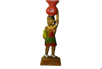 MadeInIndiaGallery Showpiece  -  58 cm(Wooden, Multicolor)