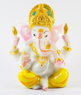 GiftsCellar Ganesh Ji Marble Showpiece  -  14 cm