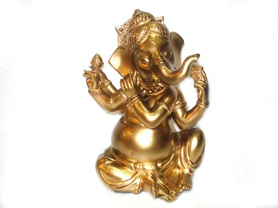 Fusion Gallery Golden ganesha idol Showpiece  -  21 cm