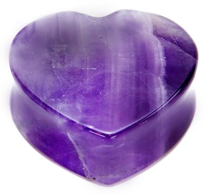 SS Murti Handicrafts Beautiful Designer Amethyst Stone Love Double Joint Heart Shape 3 Inch Showpiece  -  7.6 cm(Stoneware, Blue)