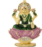 Nilgiri Touch Lotus Lakshmi Showpiece  -  4 cm(Gold Plated, Gold)