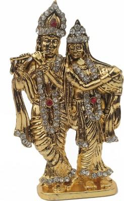 Divyas Gold Plated Radha Krishna Showpiece  -  8 cm