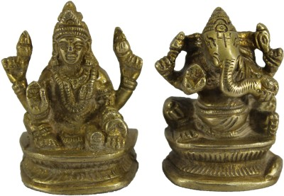 Ravishing Variety Ganesh Laxmi Statue set Showpiece  -  6 cm