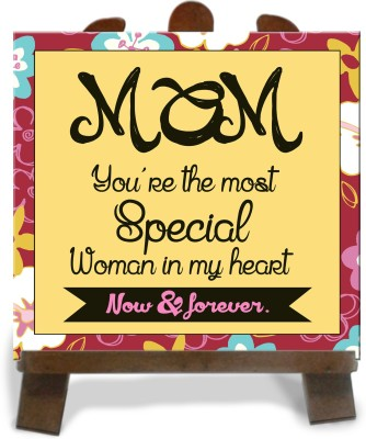Tiedribbons Most Special Gift For Mom Tile Showpiece  -  28 cm(Ceramic, Multicolor)