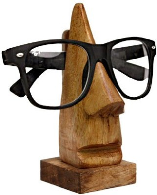 Decorhand Compartments Wood Spectacle Holder Showpiece  -  25.4 cm(Wooden, Brown)