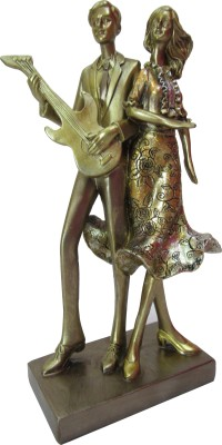 Speakfortune Valentine Special Hum Tum Couple Playing Guitar And Dancing - Perfect Gift For Loved One Showpiece  -  25 cm