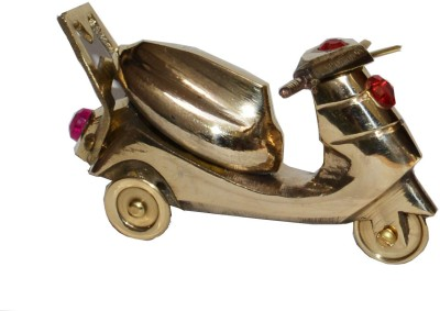 VEDA HOME & LIFESTYLE BRASS DECORATIVE SCOOTY Showpiece  -  7 cm
