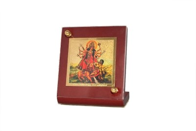 Sitare Goddess Durga Swizz made 24 kt Gold Foil Showpiece  -  6.0 cm