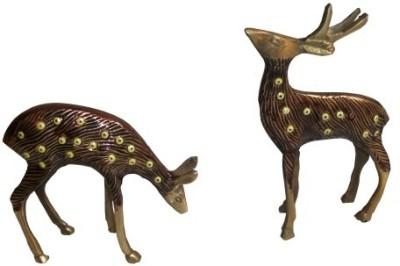 Inspiration World Brass Deer Set 2 Showpiece  -  15 cm