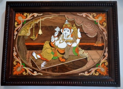Collectible India 16X10 Inches Superb Large Ganesha Wall sculpture - Home Decor Showpiece  -  25.4 cm