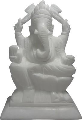 Avinash Handicrafts White Stone Ganesha 4.5
